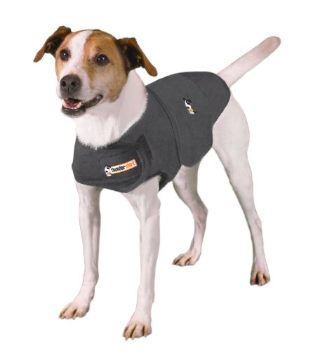 Thundershirt Dog Anxiety Treatment (XX-Small/Heather Grey). Shirt, Wearable, Collars, Help, Calming