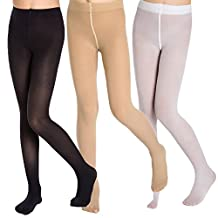 Aaronano Little Girls' Footed Tights 3-Pair-Pack