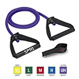 SPRI Xertube Resistance Bands Exercise Cords w/Door Attachment, Purple, Very Heavy