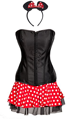 Sexy 2016 Costumes (Focussexy 2016 Hot Sexy Women Minnie Mouse Cosplay Costume Corset Dress)