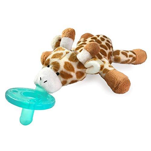 WubbaNub Infant Pacifier - Retro Colors Giraffe ()