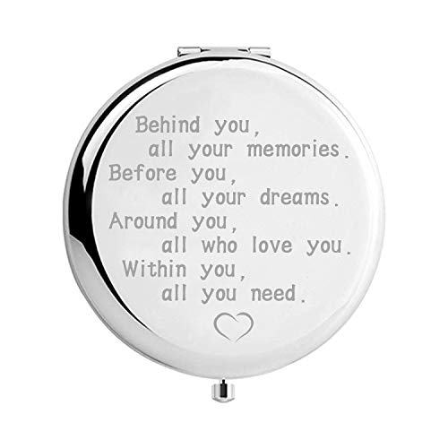 MOORAY Inspirational Gifts for Women Ideas for Girls Birthday Engraved Gift for Her with Gift Box Makeup Mirror