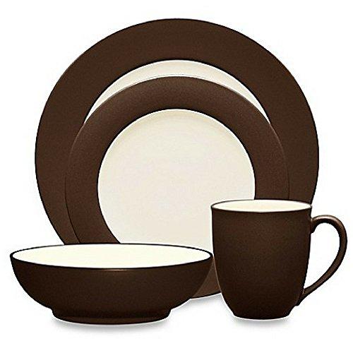 Noritake Colorwave Rim 4-Piece Place Setting in Chocolate