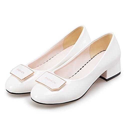 DoraTasia Damen Pumps, Weiß