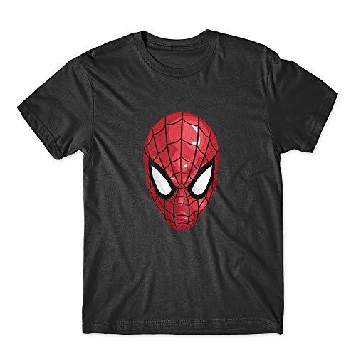 Spiderman mask T-Shirt 100% Cotton Premium Tee New Black -