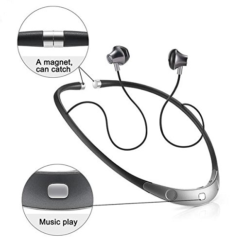 Amazon Com Bluetooth Headset Call Vibrate Alert Wireless Neckband