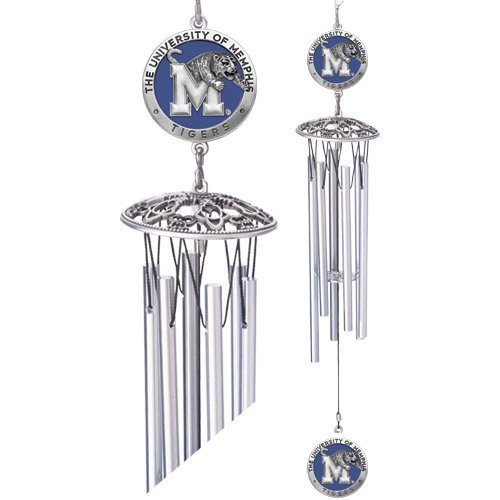 1pc, Pewter Memphis Tigers Wind Chimes