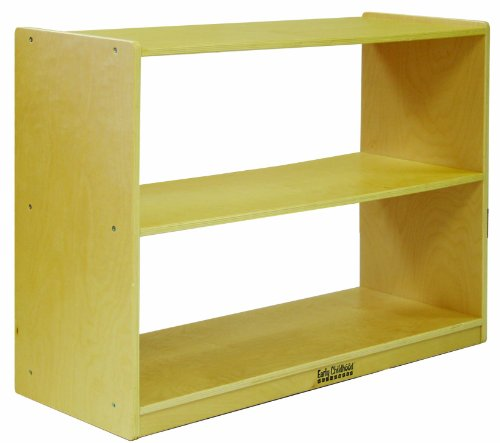 ECR4Kids Birch 2 Shelf Storage Cabinet, Natural