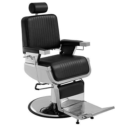 BestSalon Hair Salon Chair Barber Chair Recline Chair Styling Heavy Duty Hydraulic Pump Barber Chair 360 Swivel Chair Shampoo Styling Hair Chairs Hair Cutting Professional Salon Equipment