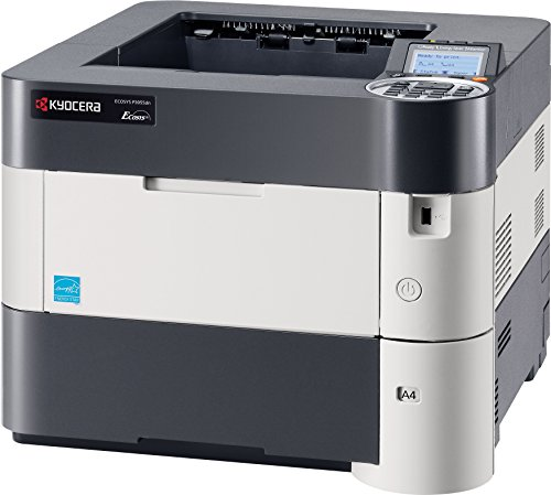 Kyocera 1102T72US0 Model ECOSYS P3055dn Black & White Network Printer, 5 Line LCD Screen with Hard Key Control Panel, Up to Fine 1200 DPI Print Resolution, Wireless and Wi-Fi Direct Capability (5 Line Display)