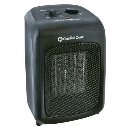 Comfort Zone Ceramic Heater in Black Ceramic Heaters Comfort Zone