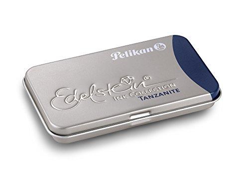 Pelikan 339689 Cartucho de Tinta para Pluma Fuente Estilográfica Edelstein, color Azul Tanzanite
