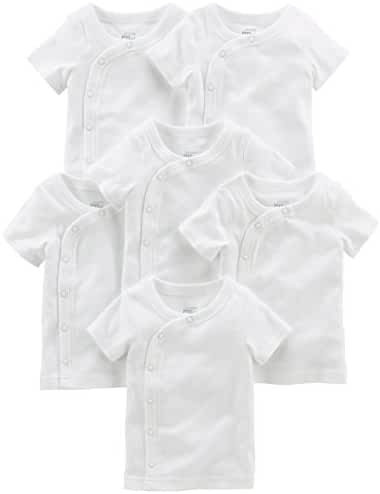 Simple Joys by Carter's Baby 6-Pack Side-Snap Short-Sleeve Shirt