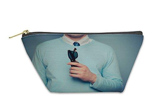 Gear New Accessory Zipper Pouch, Smart Young Man With Sunglasses, Small, - Glass Go Cambridge