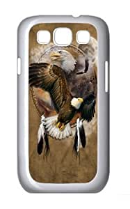 Eagle Shield PC Case Cover for Samsung Galaxy S3 and Samsung Galaxy I9300 White