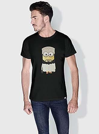 Creo Oman Minions Round Neck T-Shirt For Men - Black, Xl