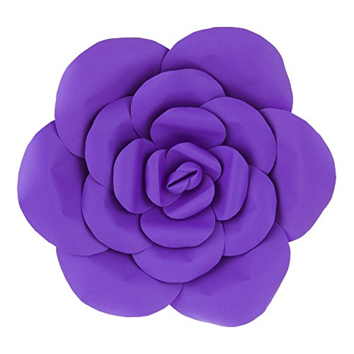 Mega Crafts 16'' Handmade Paper Flower in Purple | for Home Décor, Wedding Bouquets & Receptions, Event Flower Planning, Table Centerpieces, Backdrop Wall Decoration, Garlands & Parties