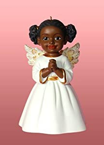 Amazon.com: African American Christmas Ornaments Angel Prayer ...