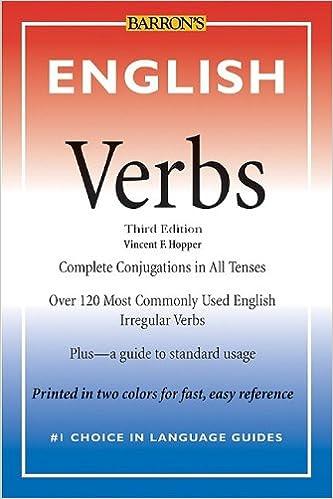 English Verbs (Barron's Verb Series): Vincent F  Hopper