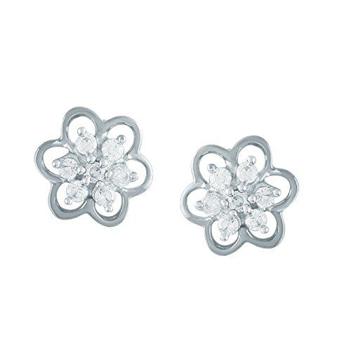 Giantti Diamant pour femme de petite taille Kudi Boucles d'oreilles (0.1288CT, VS Clarté, Gh-colour)
