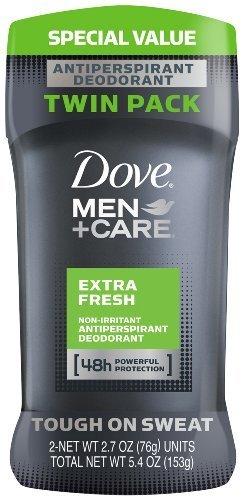 Dove Men + Care 48h Non-Irritant AntiPerspirant Deodorant, Extra Fresh Scent, 2.7oz (4 pack (2.7 oz each))