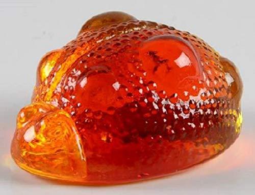 Blenko Paperweight Ladybug Crystal, Tangerine (6420P-LADYBUG-18)