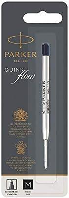 Black Ink Box of 12 Medium 1950369 Parker Ballpoint Quink Flow Pen Refill