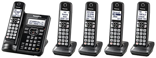 Handset Jack (Panasonic KX-TGF545B Expandable Cordless Phone with Call Block and Answering Machine - 5 Handsets)