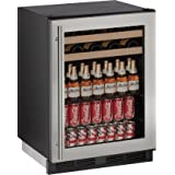 U-Line U1224BEVS00B 5.4 cu. ft. Capacity 24 1000 Series Freestanding or Built In Full Size Beverage Center in Stainless Steel