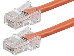 Monoprice ZEROboot Series Cat5e 24AWG UTP Ethernet Network Patch Cable, 25' Purple (113170)