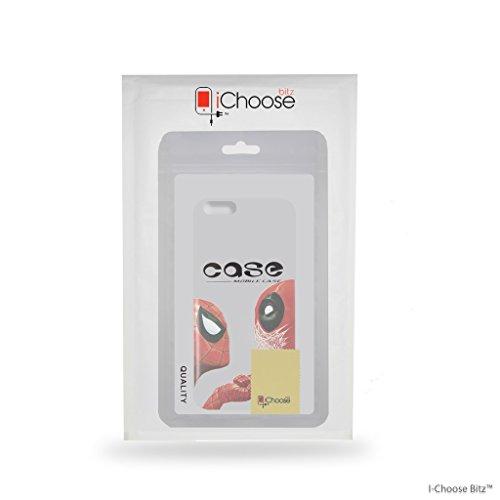 iPhone 6/6s Funda de Silicona de Deadpool / Cubierta de Gel para Apple iPhone 6s 6 (4.7) / Protector de Pantalla y Paño / iCHOOSE / Pistola de Dedo Deadpool & Spiderman