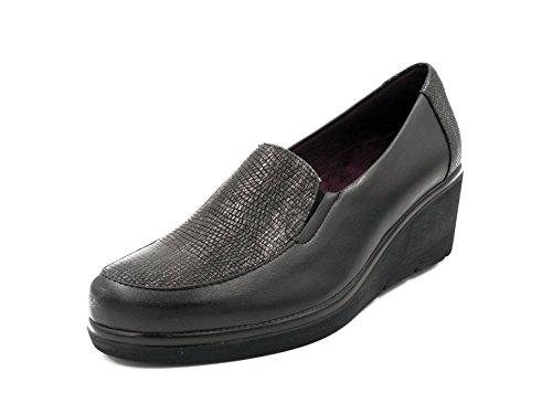Combinado Casual Mocasín Pala Piel Grabada En Pitillos Negro 1221 Mujer Tipo Zapato 201n2 Color zwyqdCgSZ