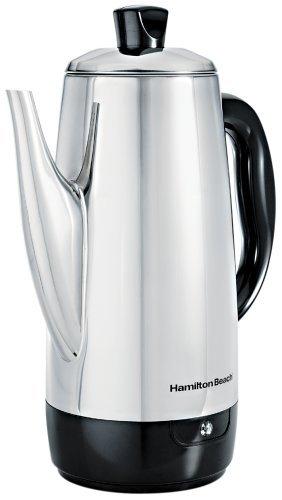 Hamilton Beach 40616 Stainless-Steel 12-Cup Electric Percolator (Renewed) by Hamilton Beach