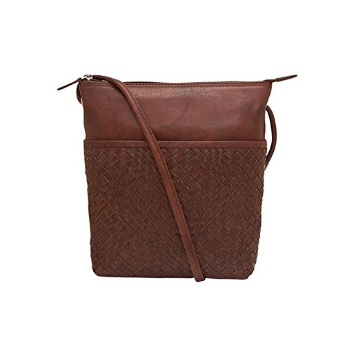 Redwood 6870 with detail lining Leather ili blocking and woven body RFID cross dIfPfwYx