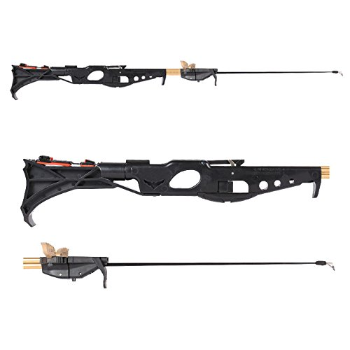 Smart Kingfisher Slingshot Fish Gun Speargun for Fishing, Hunting Spear Gun Multipurpose Shooting Support Arrow Ammo Equipted with Reel Sight Scope