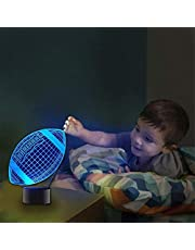 3D Illusion lamp led Night Light Game Lighting 3D lamp 16 Colour Changing Night Lamp with Remote Control Bedside Lamp, Birthday Gifts for Children and Adult