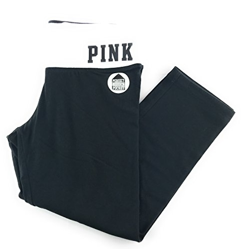 Victoria's Secret Pink Crop Yoga Leggings X-Small Black White Whatever