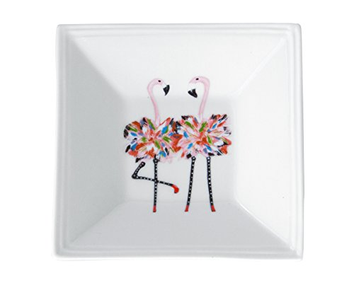 Square Tidbit Tray - Kim Rody Creations Flamingo Twins Square Tidbit Tray - 5