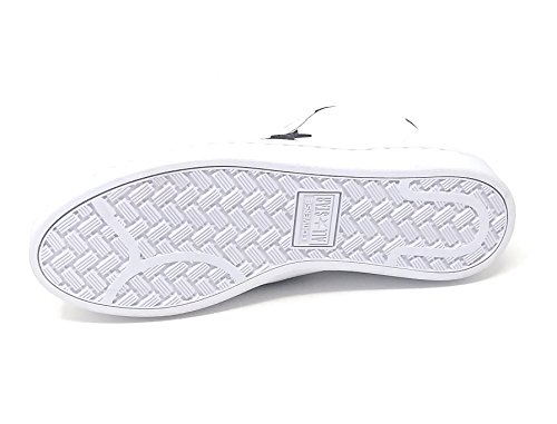 White Converse Sneaker White Pro Unisex Black Mid 76 Leather 8ZxRCSqw8