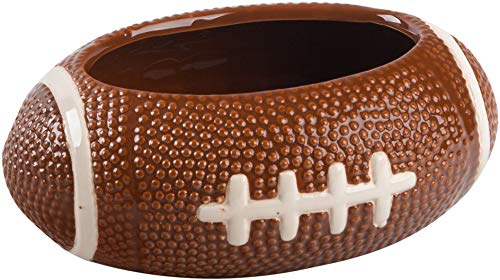 KOVOT Football Dip Bowl Dish | Ceramic Football-Shaped 23 Ounce Bowl | Measures 7