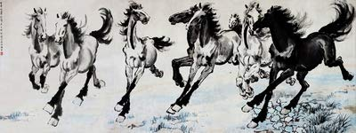 eight horses Chinese painting to the successful office horse galloping horse 147-55 decorative ink painting UtopiaShi Xu Beihong