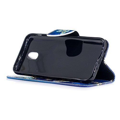 Samsung Galaxy J5 2017 / J530 Hülle Leder mit Muster, Lomogo Schutzhülle Brieftasche mit Kartenfach Klappbar Magnetverschluss Stoßfest Kratzfest Handyhülle Case für Samsung Galaxy J5 (2017) - BIFE2369 #7