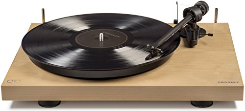 Crosley C10A-NA Hardwood Turntable with Low Vibration Synchronous Motor, Natural