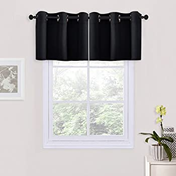 Amazon Com Nicetown Black Blackout Valance For Small