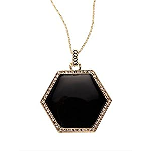 House of Harlow 1960 Hexes Pendant Necklace – Black