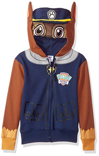Nickelodeon Boys' Little Chase Costume Zip-up Hoodie, Navy, 7]()