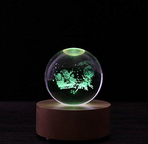Baby-lustiges Spielzeug Fernbedienung Blautooth Music Box mit LED leuchten Kristallkugel (Christmas Deer)