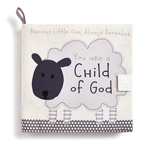 DEMDACO Child God Lamb Children's Plush Soft Page Activity Book (Rattle God)