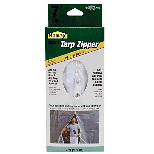 Homax Products 6025 CinchTite Peel 'N Stick Tarp Zipper Door 7'