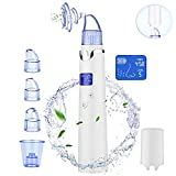 [2019 UPGRADED]Blackhead Remover, Pore Vacuum Suction Remover,4 in 1 Facial Pore Cleanser Standable USB Rechargeable Facial Skin Treatment Beauty Tool for women men with Large Size LED Display